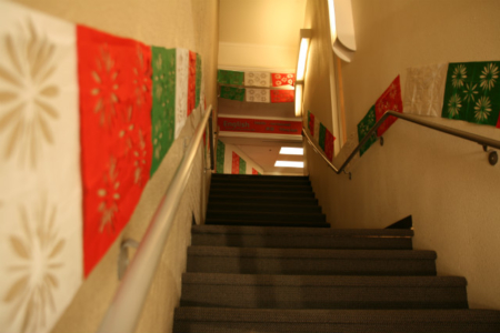 entryway decorated for Cinco de Mayo