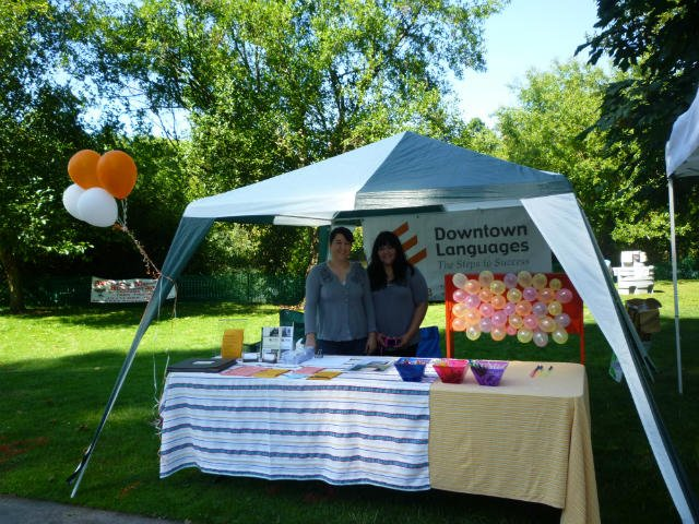 DTL booth at a community celebration