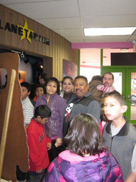 Pilas families visit the planetarium