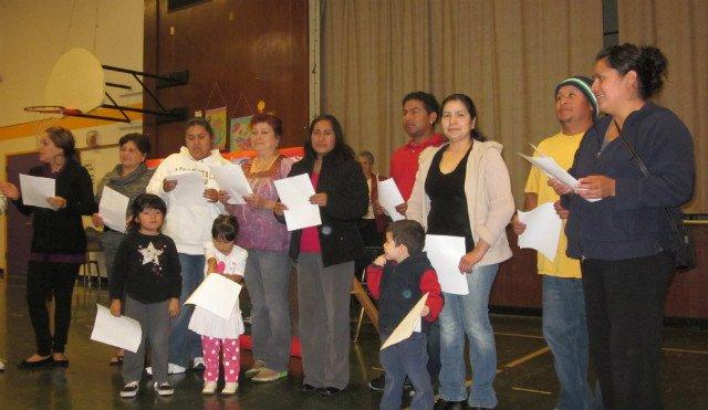 Parents and kids perform at graduation