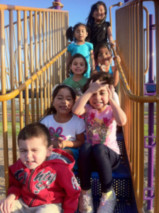 Pilas! kids on outdoor play structure