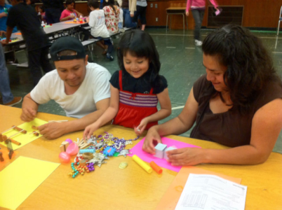 Kids working on crafts