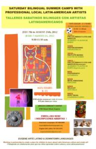 2012 Summer Camp poster