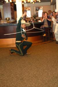 Antonio performing Floreo Charro
