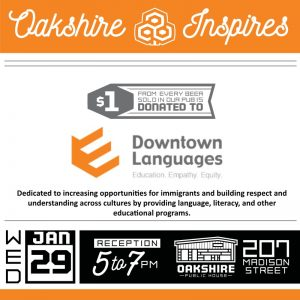 Oakshire Inspires Benefit for DTL 1/29/2020
